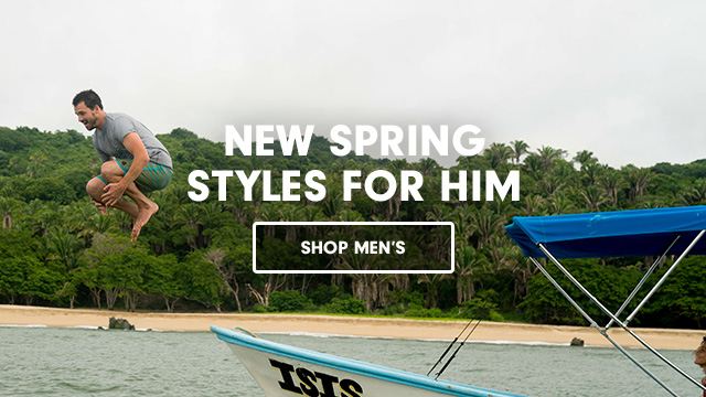 New Spring Styles for Him Shop Men's