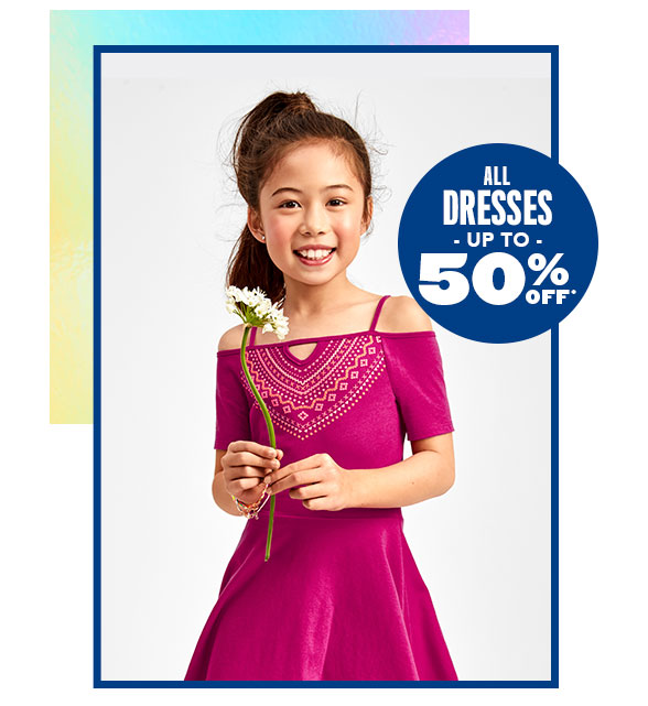 All Dresses Up to 50% Off