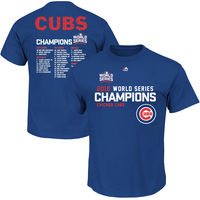 Majestic Chicago Cubs Royal 2016 World Series Champions Sweet Lineup Roster T-Shirt