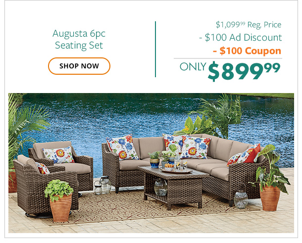 Augusta 6pc Seating Set only $899.99