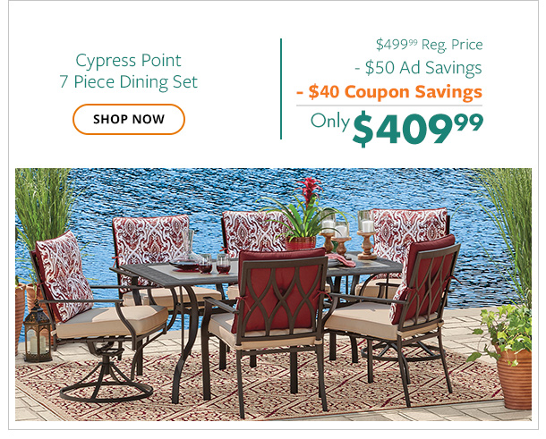 Cypress Point 7pc Dining Set only $409.99