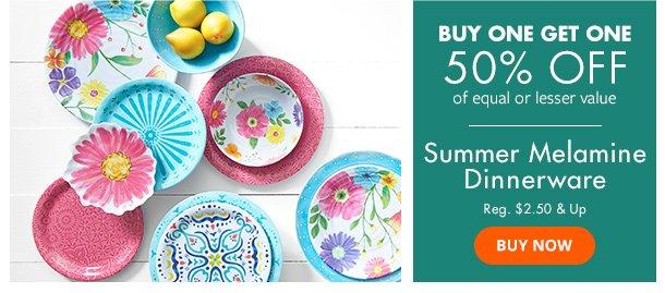 BOGO 50% off Summer Melamine Dinnerware