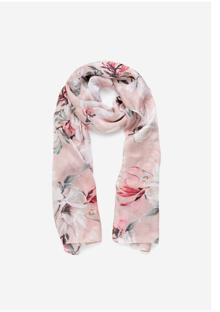 Florence Floral Print Scarf