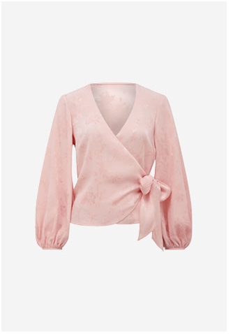 Brielle Balloon Sleeve Wrap Blouse