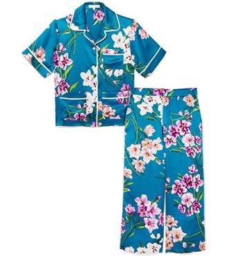 Daria Silk Pajama Set, Olivia von Halle, $595