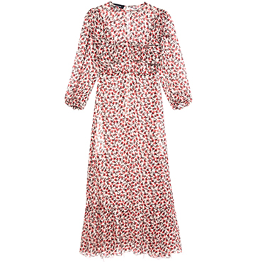 Rochas Mazzet Chiffon Printed Dress