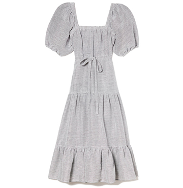 Co Square Neckline Linen Dress