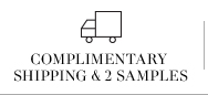 complimentary  shipping & 2 samples