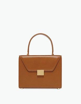 Vanity Top Handle in cuoio brown