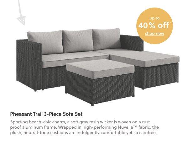 Pheasant Trail 3-Piece Sofa Set