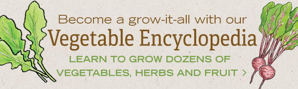 Become a grow-it-all with our Vegetable Encyclopedia! Learn to grow dozens of vegetables, herbs, and fruit!