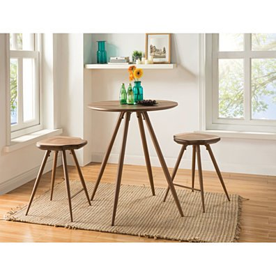 Amazing Counter Height Set, Oak Brown, 3 Piece Pack