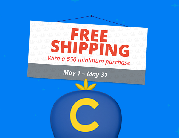 Funko Fans enjoy free shipping on orders over $50 throughout the month of May.