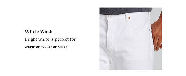 WHITE WASH | BRIGHT WHITE IS PERFECT FOR WARMER-WEATHER WEAR