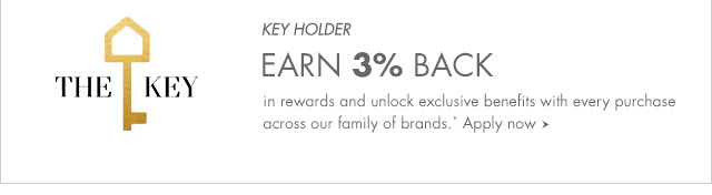 EARN 3% BACK in rewards and unlock exclusive benefits with every purchase across our family of brands.* Apply now