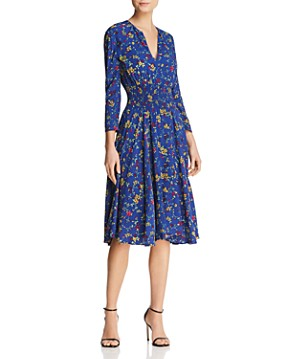 Maje Rayelle Floral Print Midi Dress - 100% Exclusive
