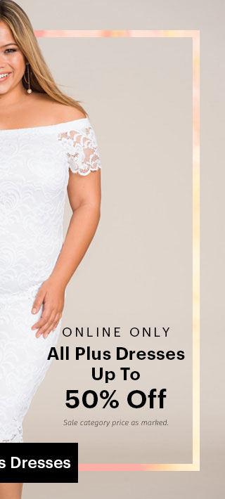 Charlotte Russe+ Plus Online Only All Plus Dresses Up To 50% Off Shop Plus Dresses