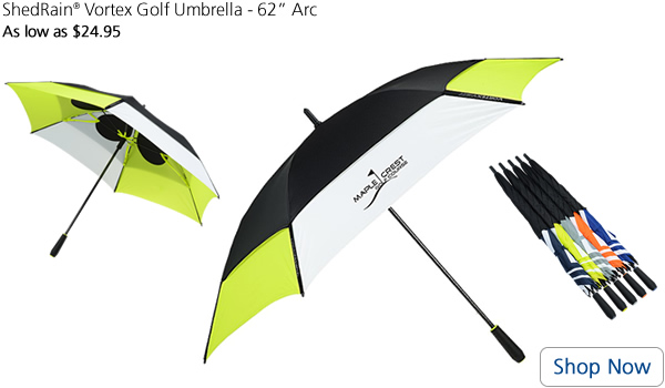 ShedRain Vortex Golf Umbrella - 62 Arc