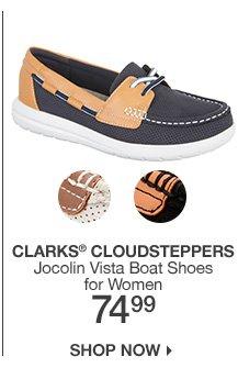 74.99 Clarks Cloudsteppers Jocolin Vista Boat Shoes