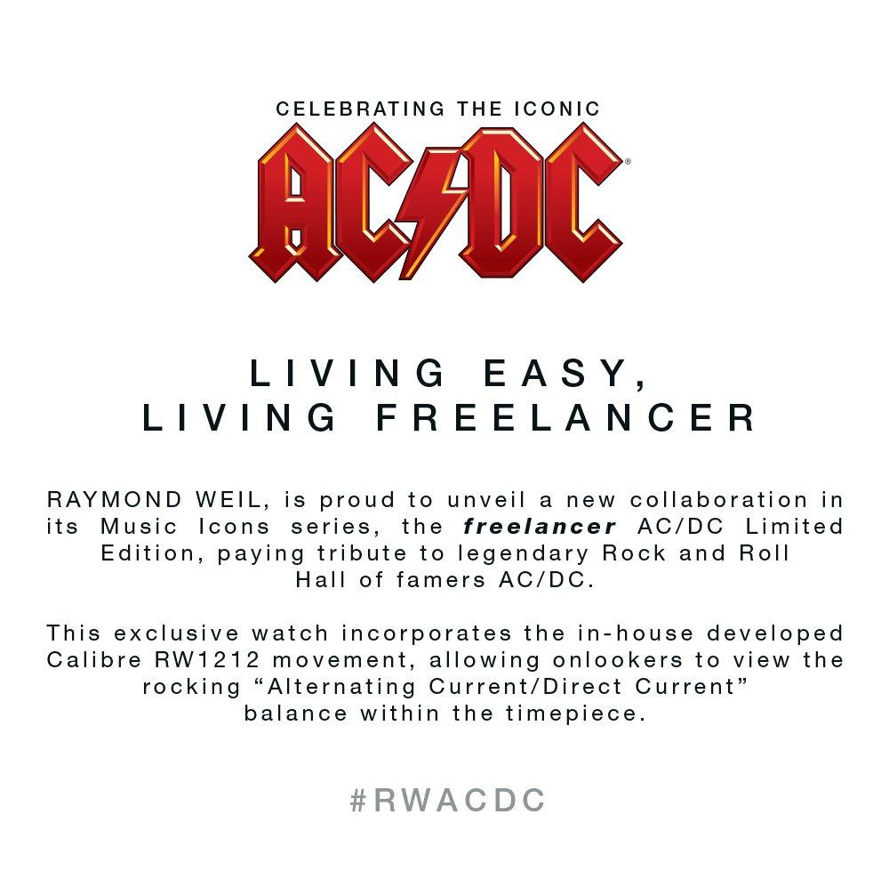 RAYMOND WEIL AC/DC Limited Edition Freelancer