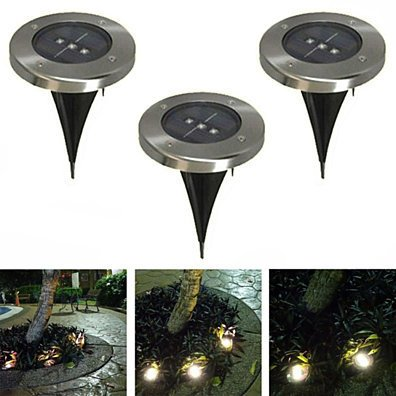 Triple LED In-Ground Solar Path Lights