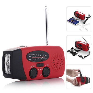 StormSafe Emergency Phone Charger with Flashlight and Weather Radio NOAA+AM/FM