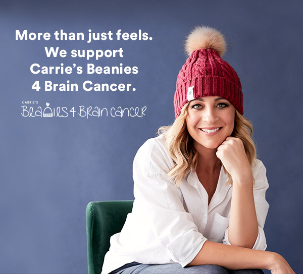 We support Carrie's Beanies 4 Brain Cancer