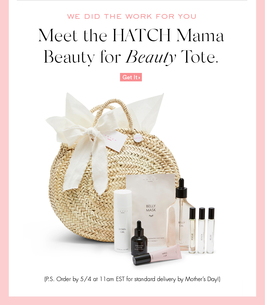 We Did The Work For You. Meet The HATCH Mama Beauty For Beauty Tote. Get It.