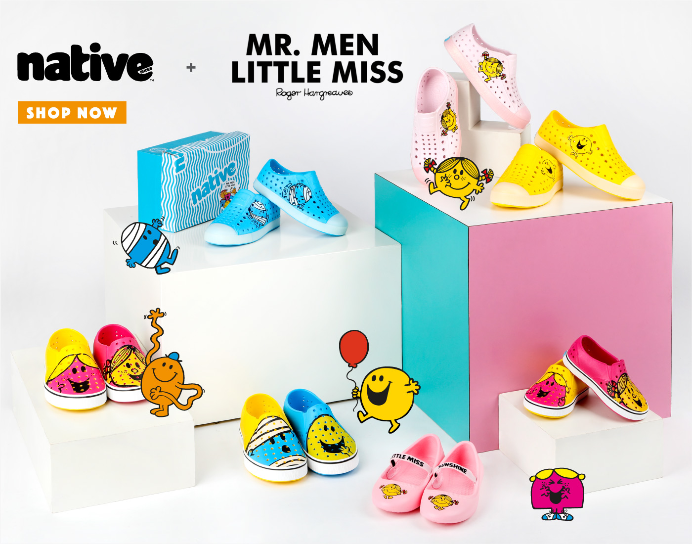 Native Shoes x Mr. Men Little Miss collab is here!