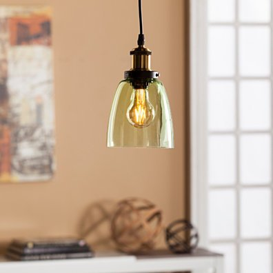 Savio Colored Glass Mini Pendant Lamp - Spring Green