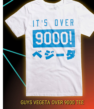 Vegeta Over 9000 Tee