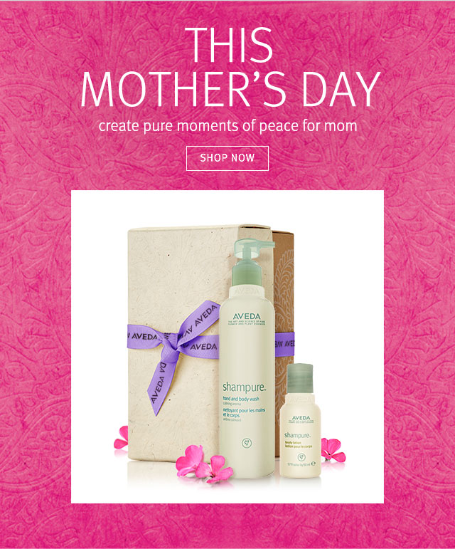 this mother's day: create moments of pure opeace for mom. shop now.
