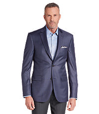 Reserve Collection Tailored Fit Check Sportcoat - Big & Tall CLEARANCE