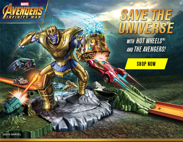 SAVE THE UNIVERSE WITH HOT WHEELS AND THE AVENGERS! SHOP NOW