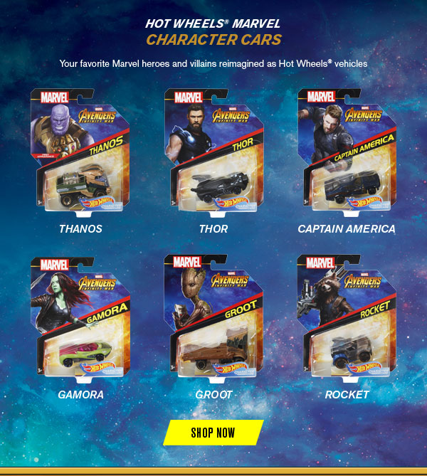 HOT WHEELS MARVEL CHARACTER CARS SHOP NOW