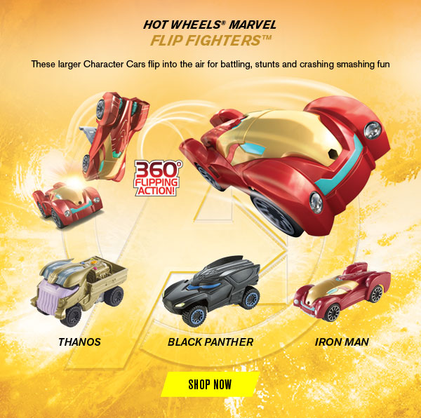 HOT WHEELS MARVEL FLIP FIGHTERS SHOP NOW