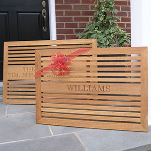Add a name or phrase to the Estate grande doormat for a perfect gift