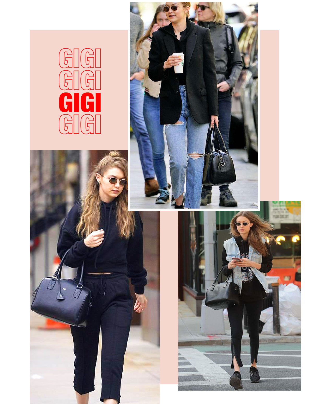 As Seen On Gigi Hadid | Shop the Personalised Bowler Bag Now Online