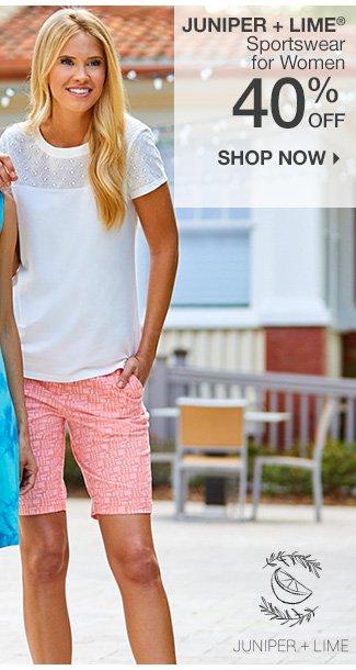 Shop 40% Off Juniper + Lime Sportswear
