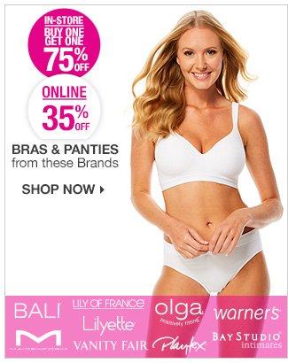 Shop 35% Off Select Lingerie   BOGO 75% Off In-Store