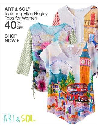 Shop 40% Off Art & Sol featuring Ellen Negley Tops