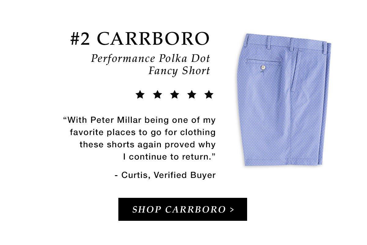 #2 Carrboro Performance Polka Dot Fancy Short