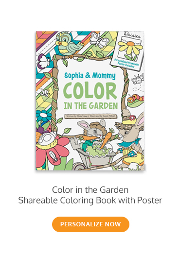 Color in the Garden With Me Adult & Child Coloring Book & Frameable Art