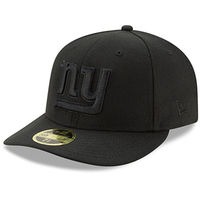 New York Giants New Era Black On Black Low Profile 59FIFTY Fitted Hat