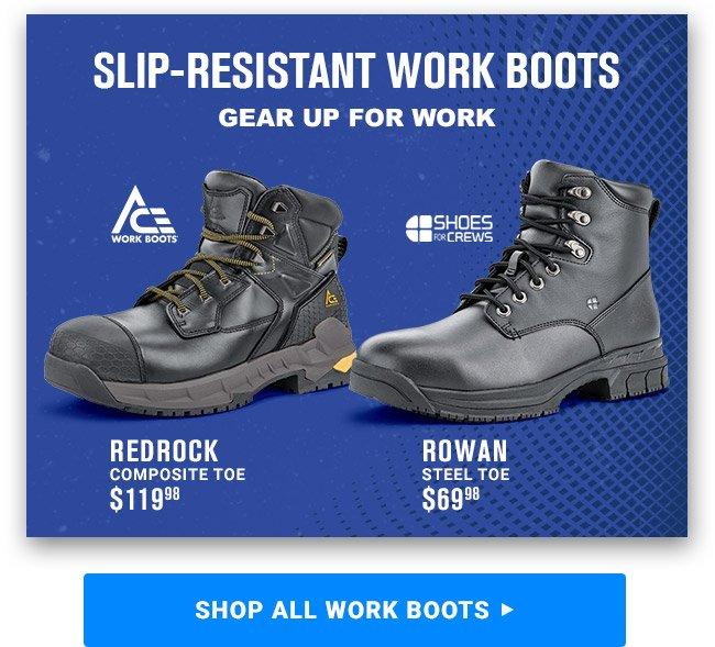 SHOP SLIP-RESISTANT WORK BOOTS