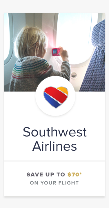 Southwest Airlines | SAVE UP TO $70