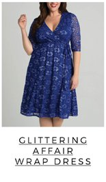 Glittering Affair Wrap Dress