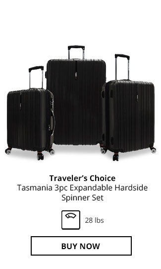 Traveler's Choice Tasmania 3pc Expandable Hardside Spinner Set