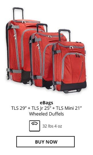 eBags TLS 29in + TLS Jr 25in + TLS Mini 21in Wheeled Duffels