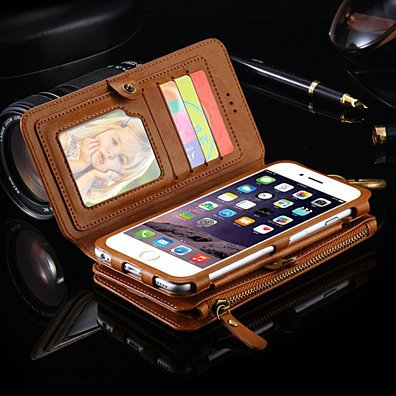 All-In-One Multi-Functional Leather Wallet Style iPhone 6/7/8 Case (6 Colors)